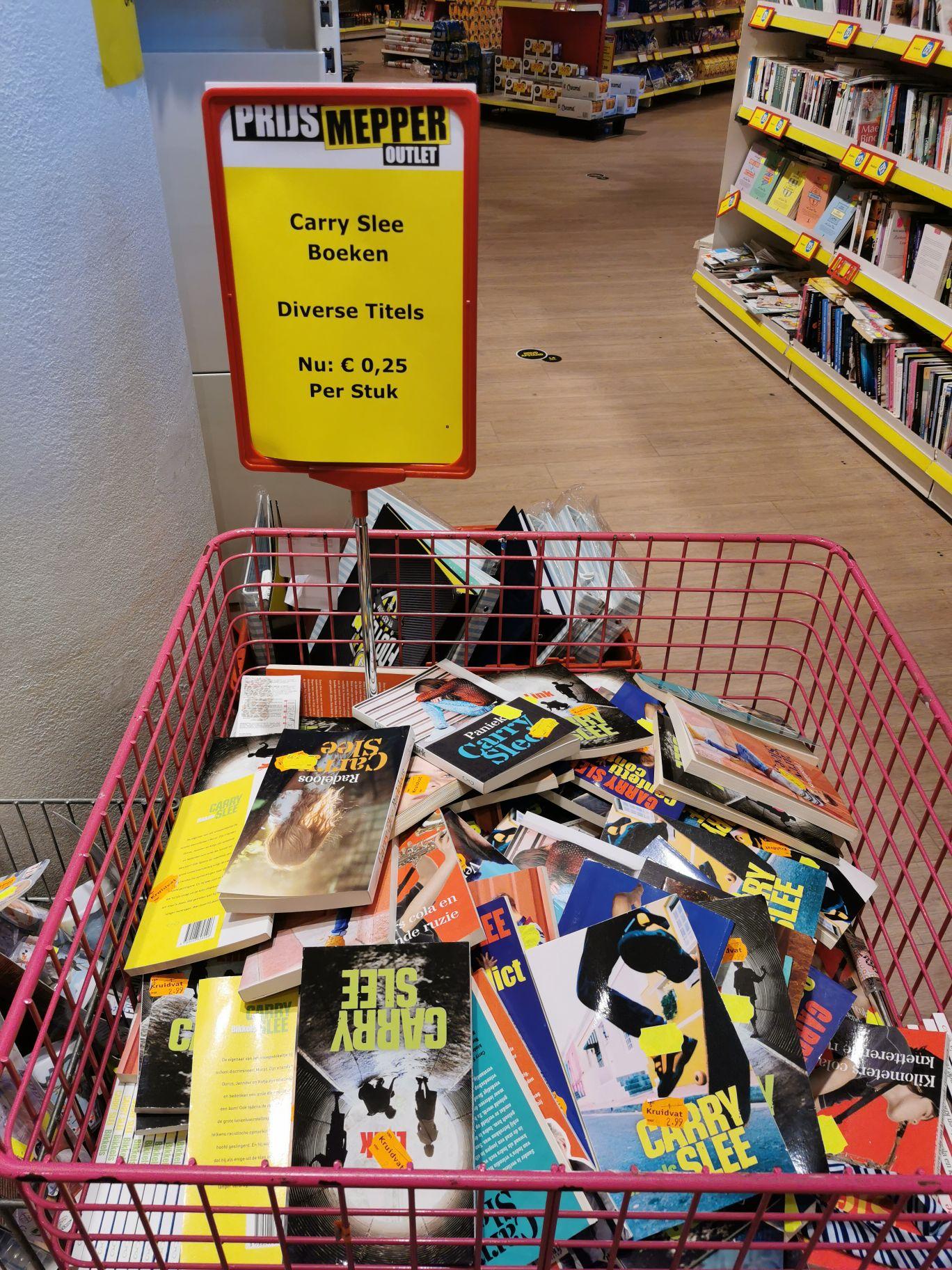 Carry Slee boeken voor 0,25 euro