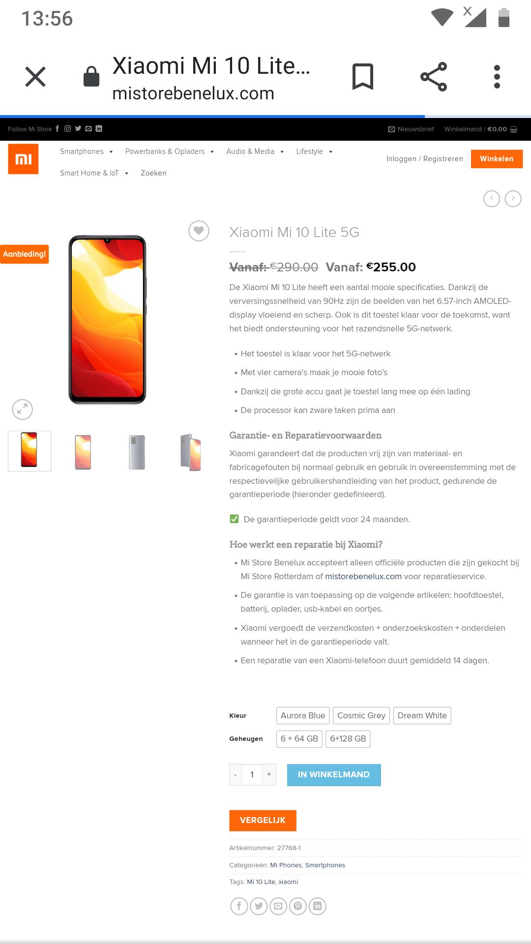 Xiaomi mi 10 lite 5g bij Xiaomi store 255