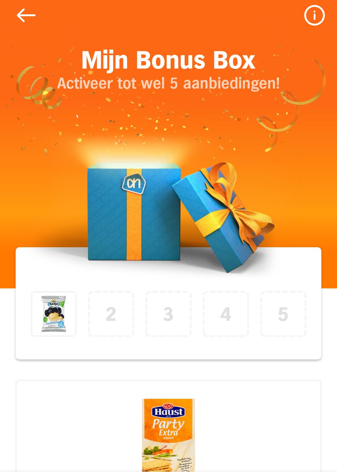 Nieuw: extra persoonlijke bonus kiezen in de Albert Heijn app