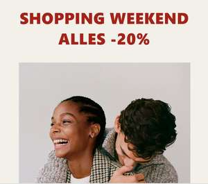 Shopping weekend: 20% korting @ MANGO