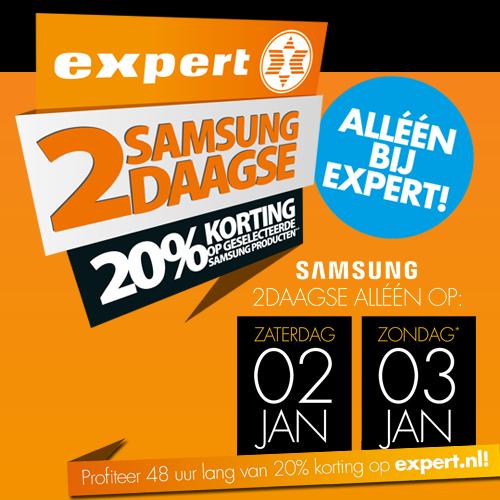 [UPDATE] Samsung 2-daagse (za. en zondag) - o.a. 20% korting op tv's en huishoudelijke apparaten @ Expert