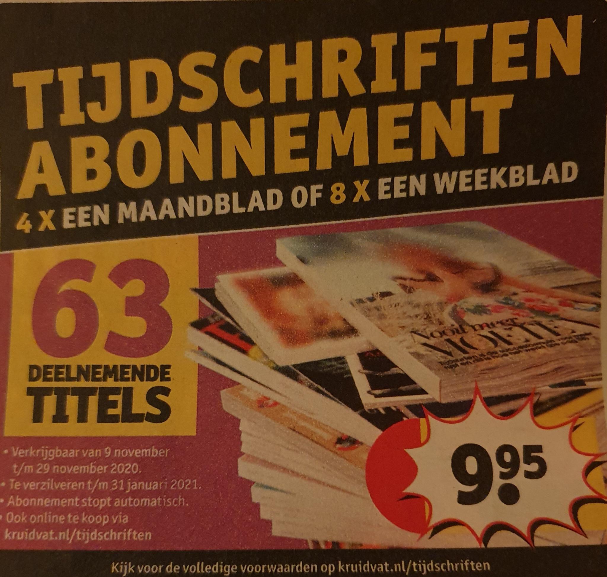 Tijdschriften abonnement kruidvat
