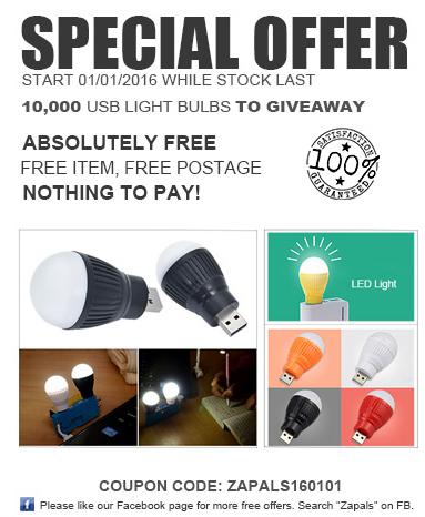 [UPDATE] Gratis USB LED Lamp @ Zapals (vanaf 1 januari)