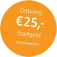 Gratis geld, 25 euro startgeld bij een inleg van 50 euro @Robeco