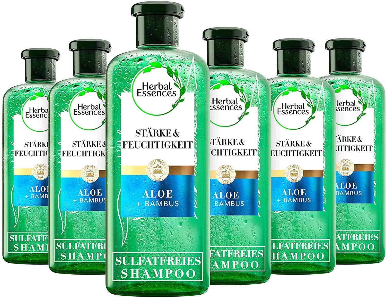 Herbal Essences sulfaatvrije shampoo met aloë + bamboe, 6-pack (6 x 225 ml)