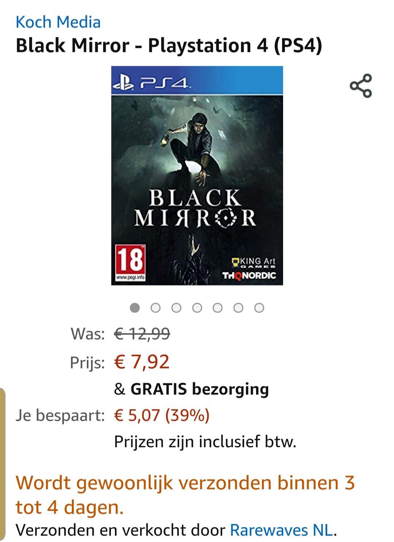Black mirror ps4 inclusief gratis verzending