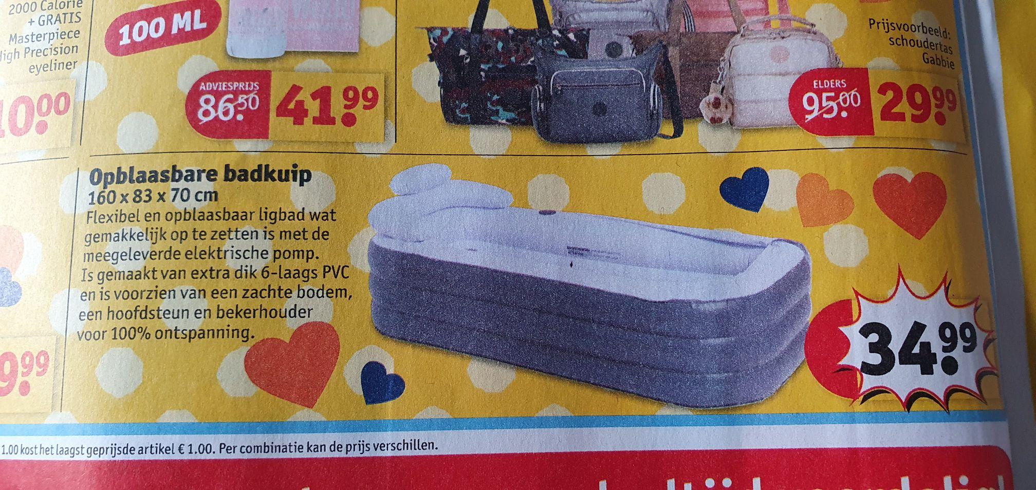 Opblaasbare badkuip 160x83x70cm