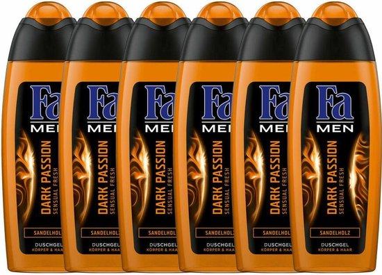 6 x 250ML Fa Men 2-in-1 Douchegel Dark Passion bij Amazon