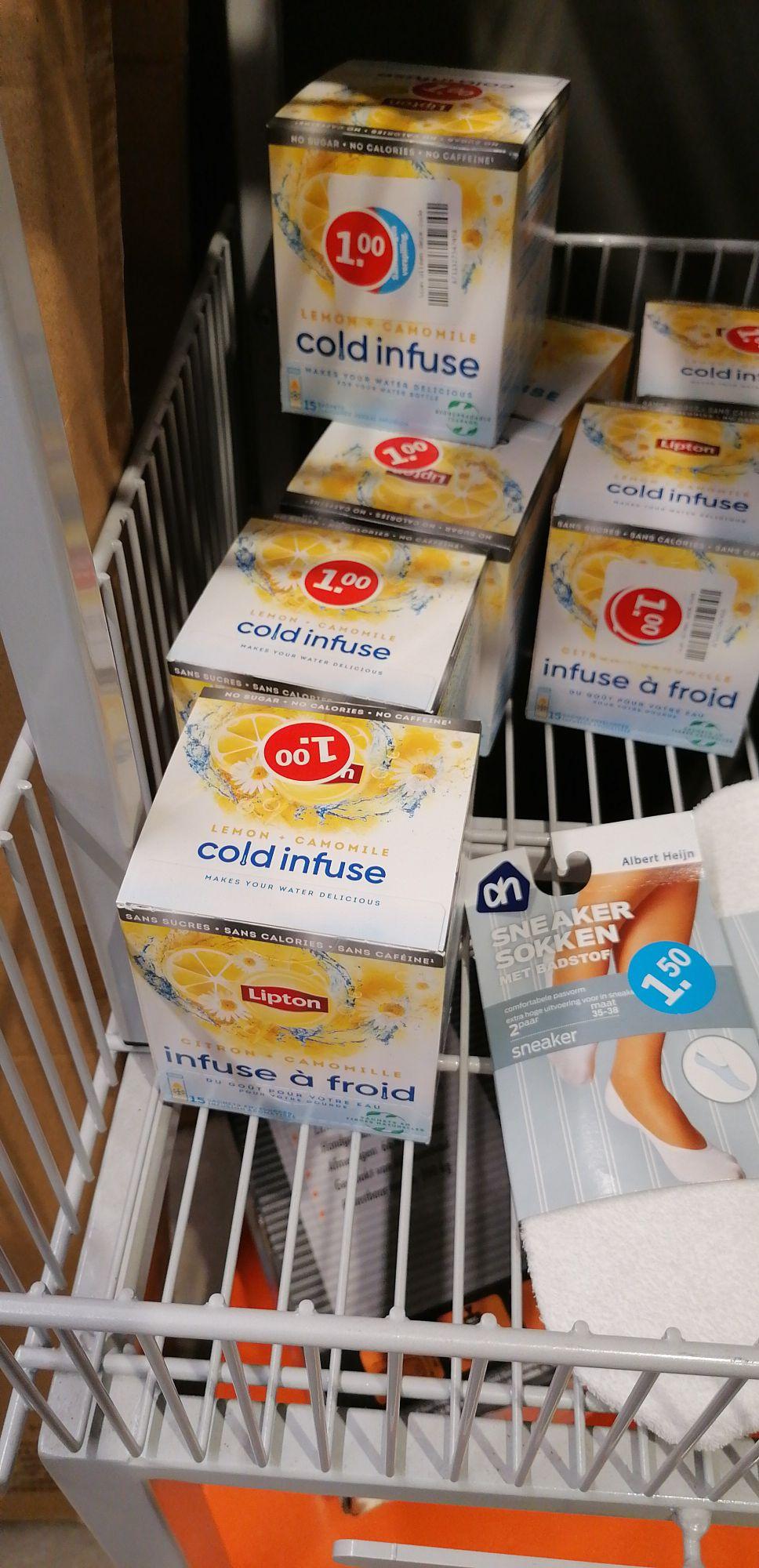 Lipton cold infuse Lemon camomile €1,- ipv €3,99. Lokaal? @Albert Heijn