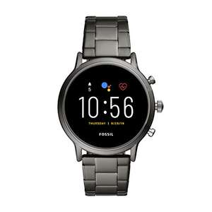 Fossil The Carlyle HR Gen 5 Smoke Stainless Steel Smartwatch Zilver