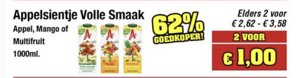 Budget Food - Appelsientje Volle Smaak - 2 voor €1