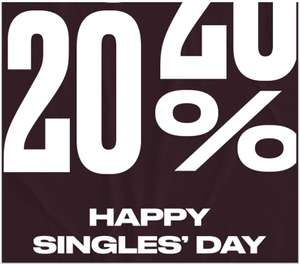 Singles Day: 20% EXTRA korting @ Converse