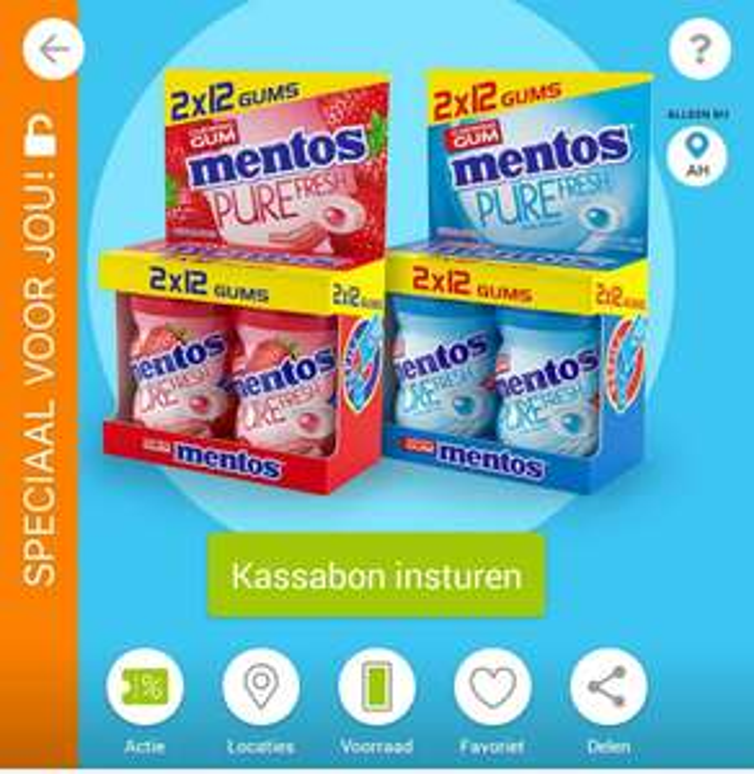 Cashback scoupy Mentos Kauwgum Mini Potjes voor €0,50