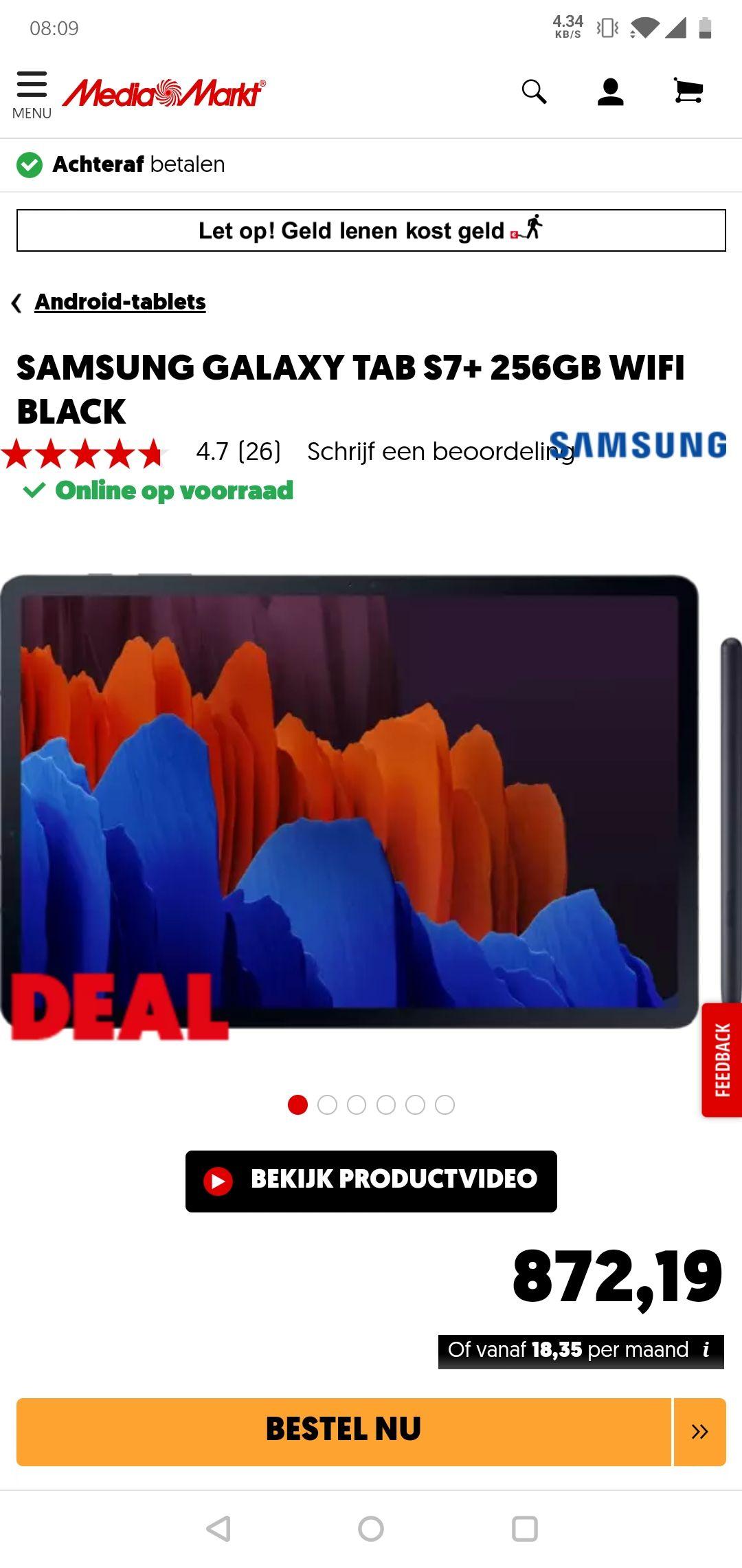 Samsung Galaxy Tab S7+ 256GB WiFi