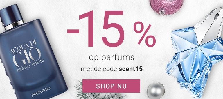 15% korting op parfums notino