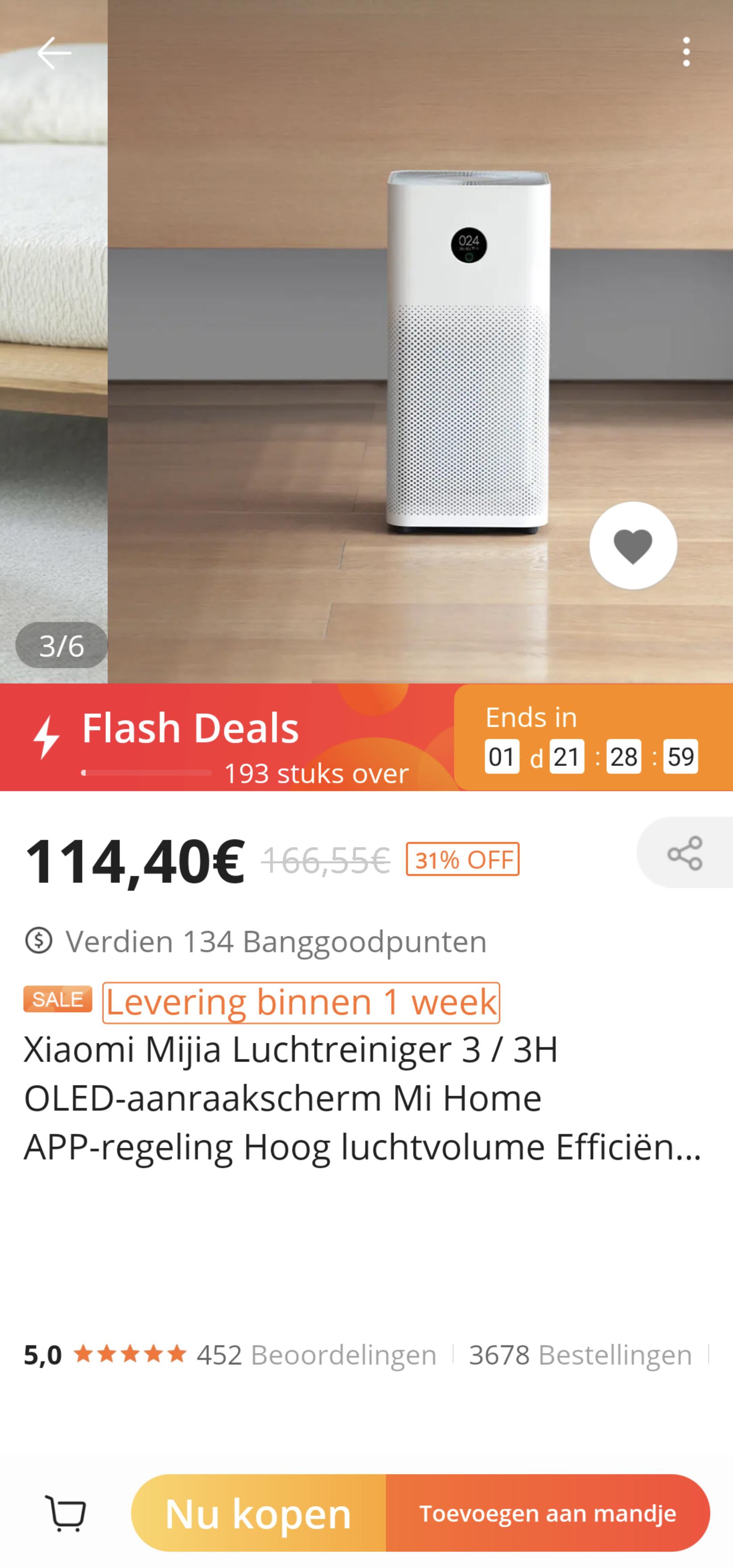Xiaomi Luchtreiniger 3/ 3h