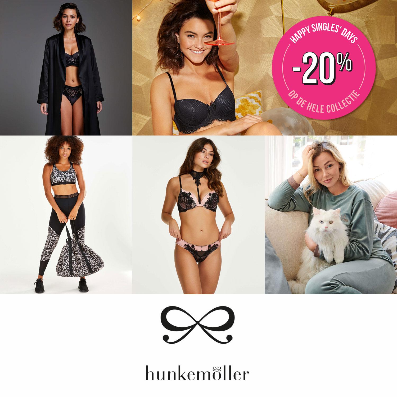 Singles Day: 20% korting @ Hunkemöller