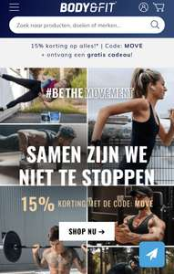 15% korting Body & Fit