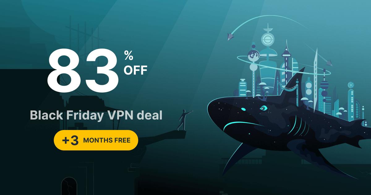 Surfshark VPN 27 maanden voor €50,29 - Black Friday deal + 50% Cashback
