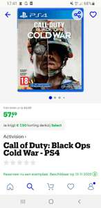 [SELECT] pre order COD Cold war op ps4/ps5