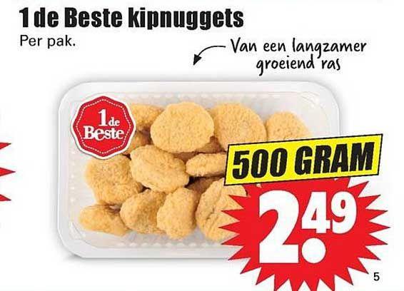 "Dirk 500g ""verse KipNuggets"" voor 1.25 / 0.75 euro"