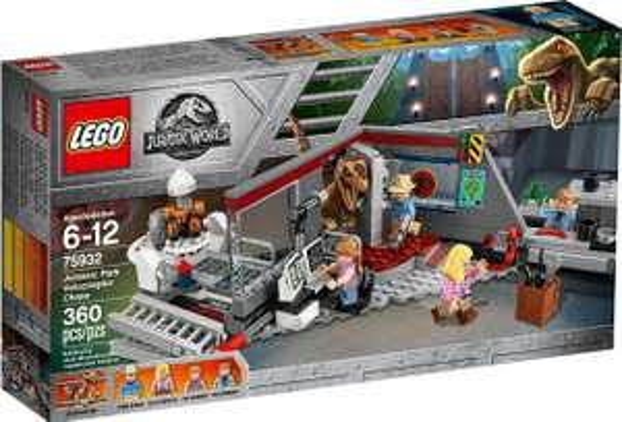 LEGO Jurassic Park velociraptorachtervolging 75932