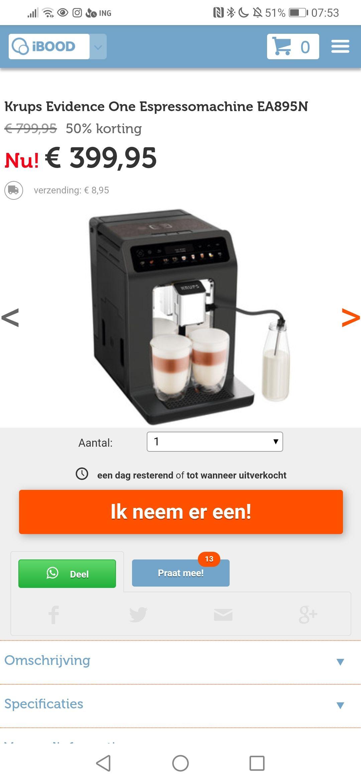 Krups espressomachine ea895n