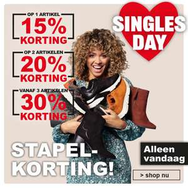 Singles Day Stapelkorting: 15-30% (extra) korting @ Scapino