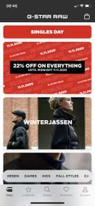 Singles day 22% off on Everything
