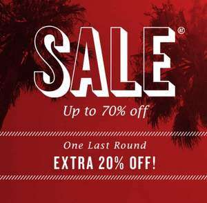 Sale tot 70% korting + 20% (extra) korting op alles @ America Today