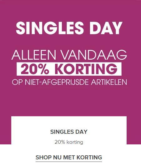 SINGLES DAY | 20% KORTING @ ziengs.nl