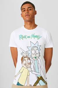 Rick & Morty t-shirt voor €5,99 (was €12,90) @ C&A