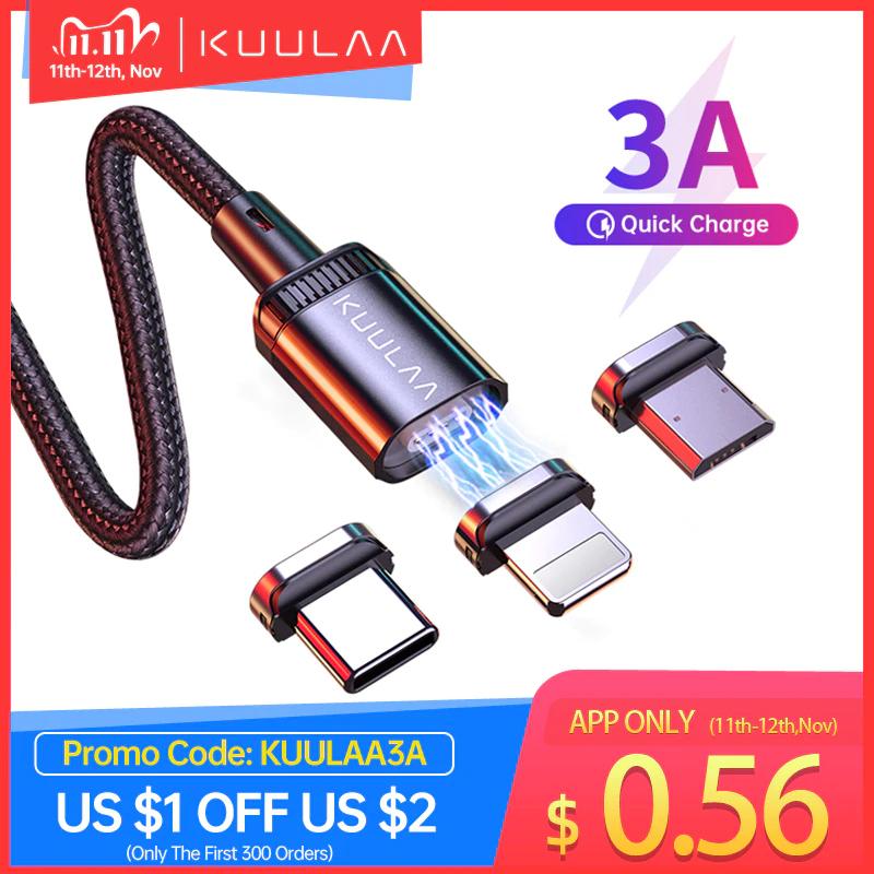 11.11 -60% Kuulaa magnetische oplaadkabel Lightning / USB-C / Micro-USB
