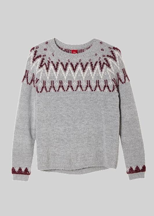 S.Oliver meisjes trui met gebreid motief grijs voor €2,21 @ Amazon.nl