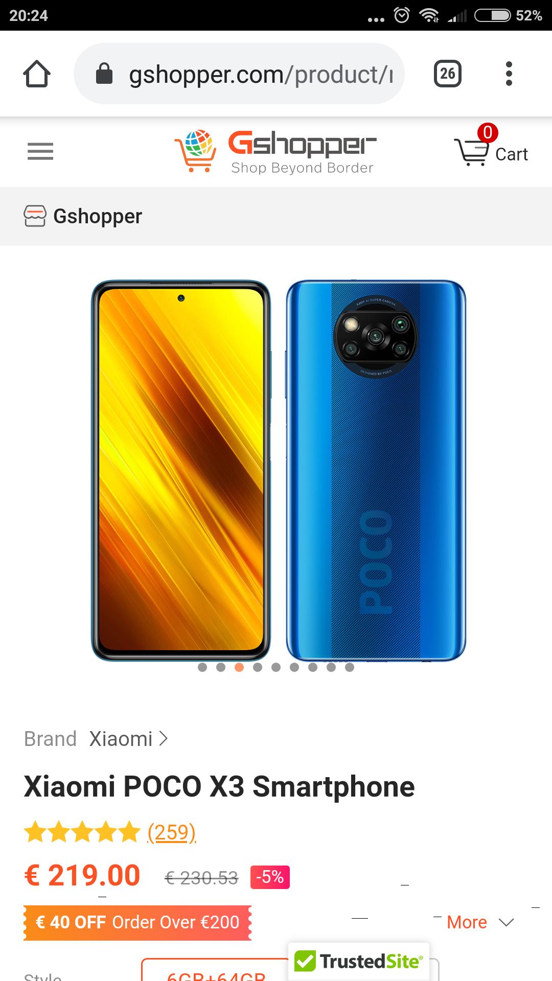 POCO X3 NFC 6GB/64GB Cobalt Blue, verstuurd uit Tsjechië