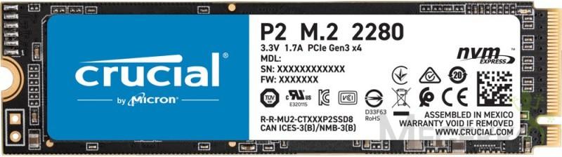 Crucial P2 1TB NVME SSD(megekko + CD-ROM land)