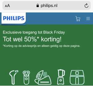 Early access Black Friday deals Philips (o.a. Philips Oneblade): Tot wel 50% korting Philips.