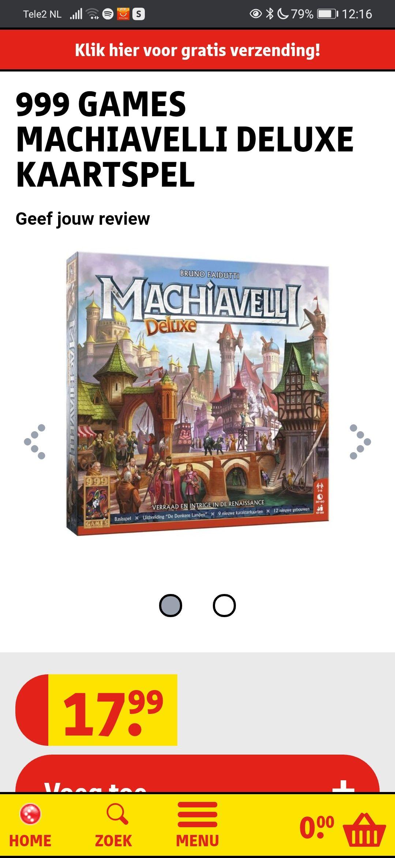 Machiavelli Deluxe (kaartspel)