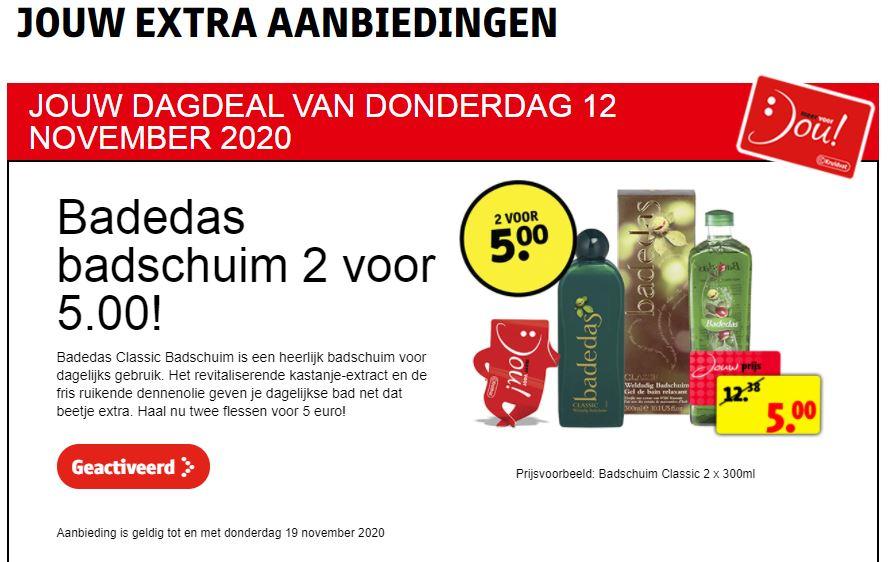 2L Badedas Classic Badschuim voor €5 na activatie klantenkaart @ Kruidvat