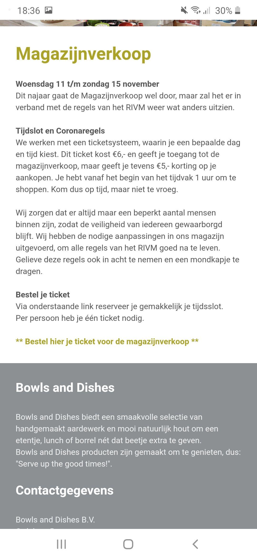 Magazijnverkoop Bowls and Dishes (Lokaal, Tilburg)