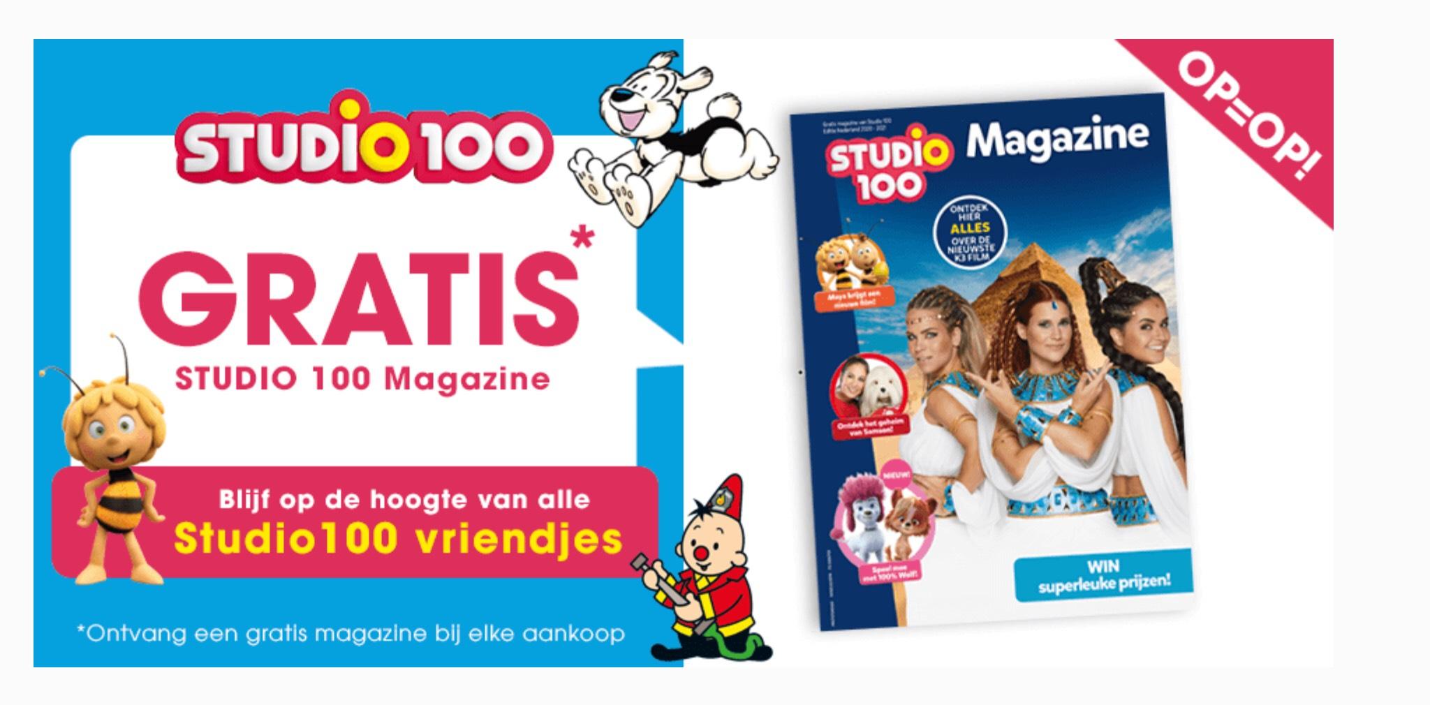 Gratis studio 100 magazine bij elke aankoop in de winkel