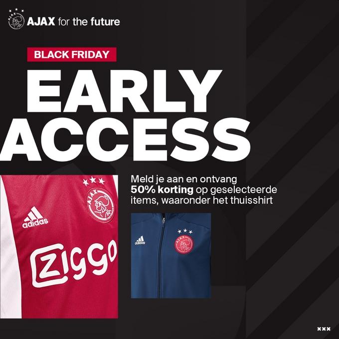 50% korting op thuisshirt Ajax