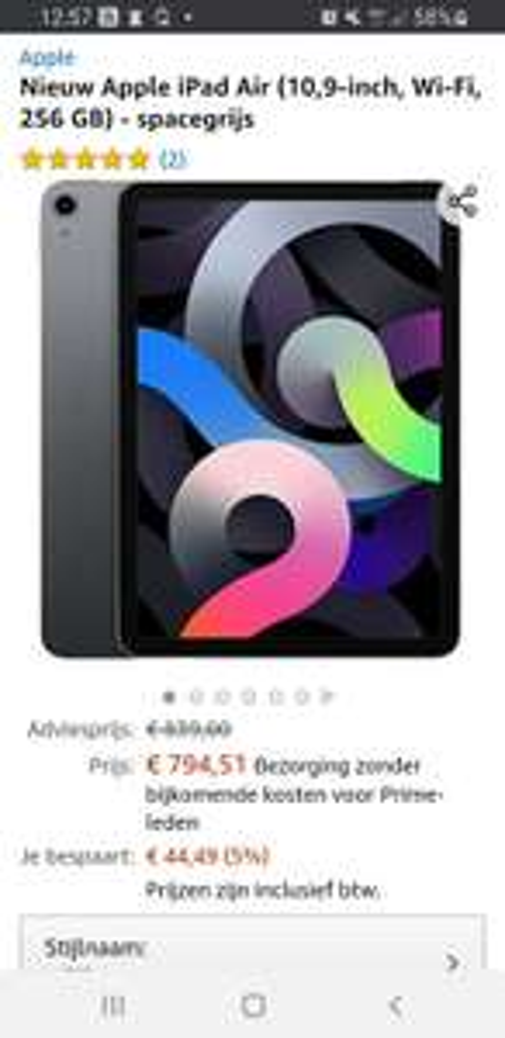 Apple iPadAir (10,9‑inch, Wi-Fi, 256GB) - spacegrijs