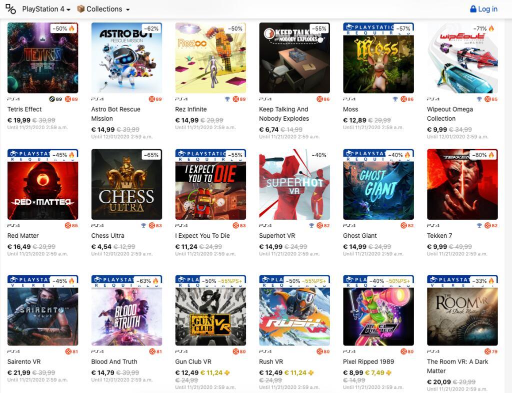 [PS4] PSVR games overzicht - 25-85% korting @PlayStation store