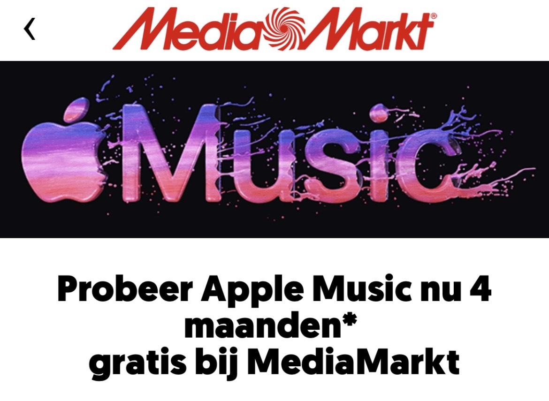4 Maanden Gratis Apple Music