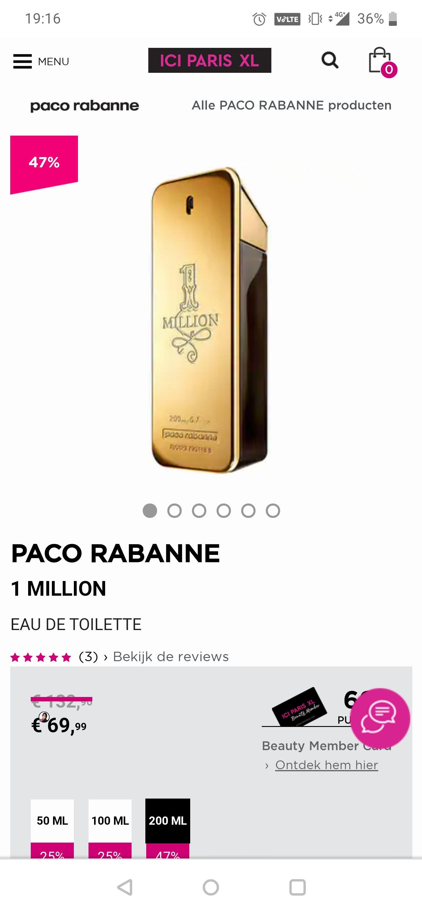 One Million 200ML