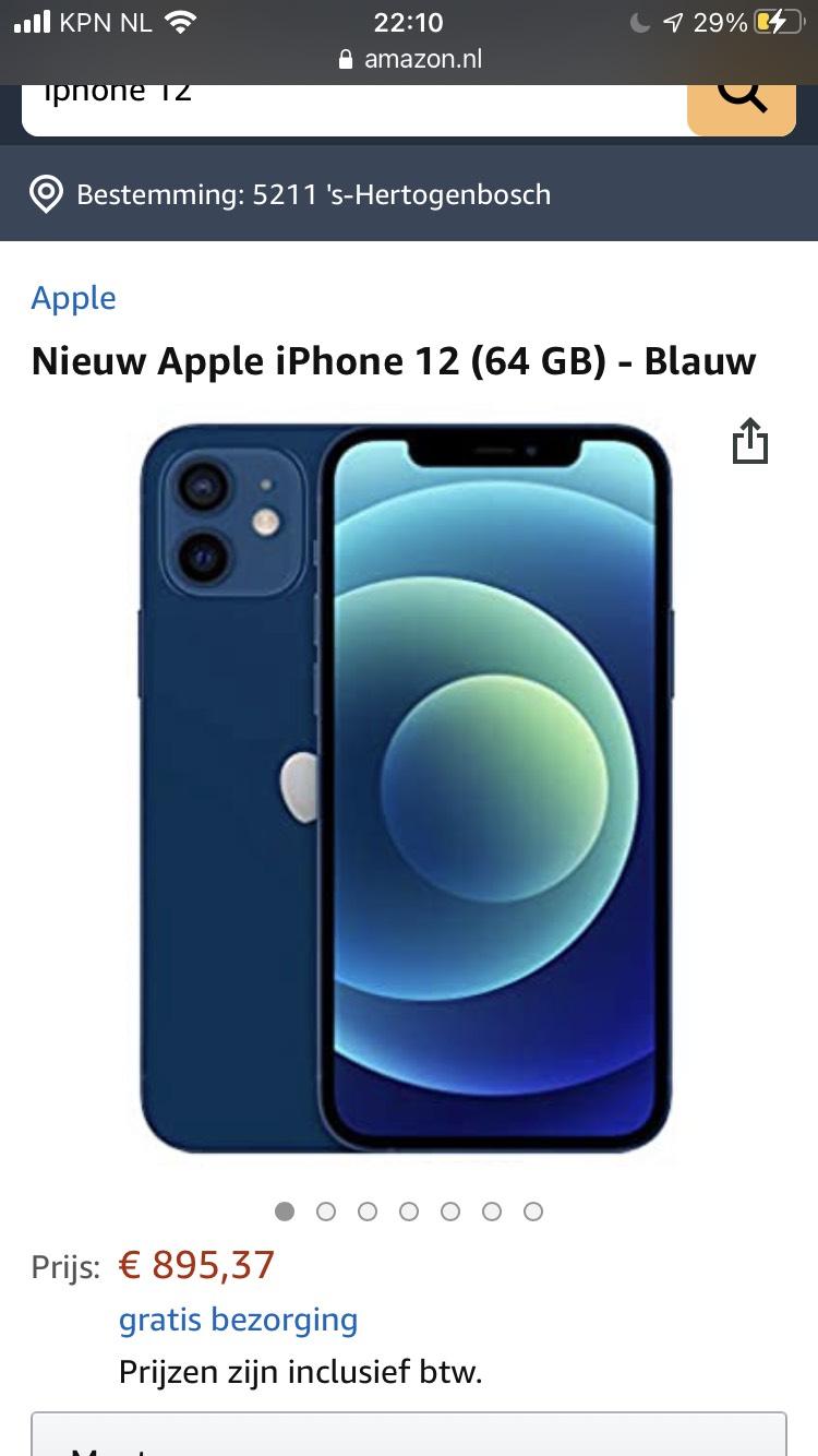 Nieuw Apple iPhone 12 (64 GB) - Blauw