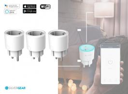 Silvergear Smart Plug WiFi - Slimme Stekker - 3 Stuks