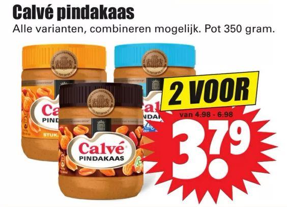 Calvé Pindakaas, alle varianten (ook sinterklaas variant) 2 potten à 350 gr. @ Dirk