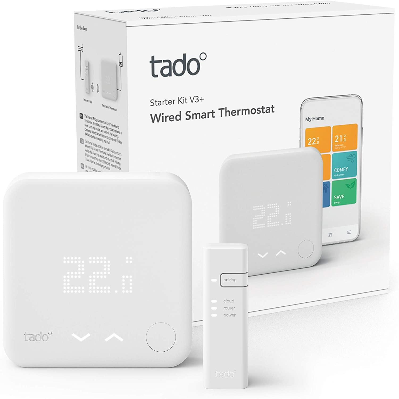 Tado Slimme Thermostaat V3+ starterkit (bedrade versie) @ Amazon.nl
